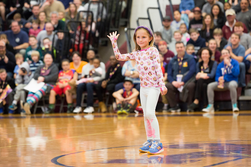 """Brooke, a member of the audience who was selected by """"The Rocket"""" to show off her dance moves, shows attendees how to Nay Nay."""" Throughout the evening, the audience was encouraged to participate often.  Rachel Wisniewski — For Digital First Media"""