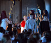 Jesus and his followers enter Jerusalem acclaimed with wave palm fronds as seventh grade students re-enact the passion and death of Jesus in the sanctuary of St. Stanislaus Catholic Church April 12, 2017.  (Bob Raines / Digital First Media)