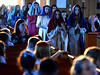 The seventh grade players enter the St. Stanislaus Catholic Church sanctuary to re-enact the Passion of Christ April 12, 2017.  (Bob Raines / Digital First Media)