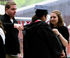 Aaron and Diana Burk gets their mother, Diana, dressed for her graduation from Gwynedd Mercy University May 13, 2017.  (Bob Raines/Digital First Media)