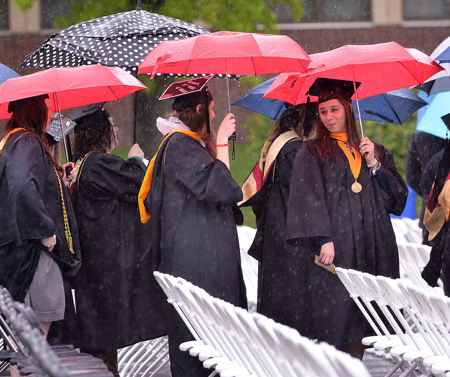. The student procession wends its way to the Gwynedd Mercy University commencement May 13, 2017.  (Bob Raines/Digital First Media)
