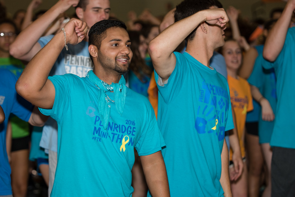 . Sharpest Singh dances to raise money for the fight against childhood cancer at the Pennridge High School�s Mini-THON Saturday, May 13.  Jeff Davis � For Digital First Media