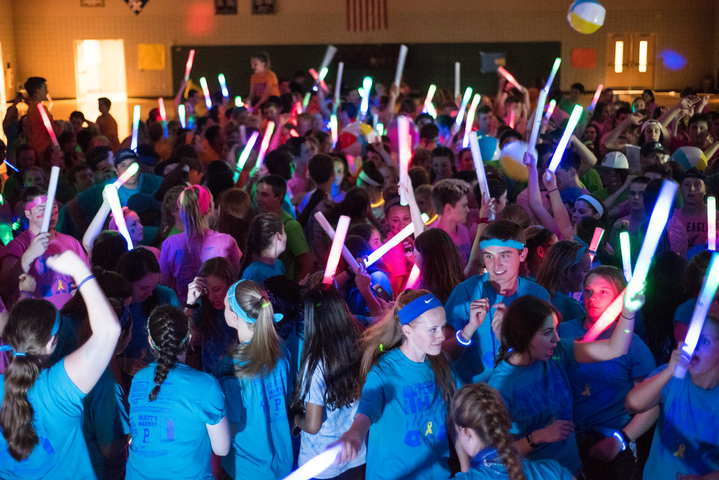 . Many students come out to raise money for the fight against childhood cancer at the Pennridge High School�s Mini-THON Saturday, May 13.  Jeff Davis � For Digital First Media