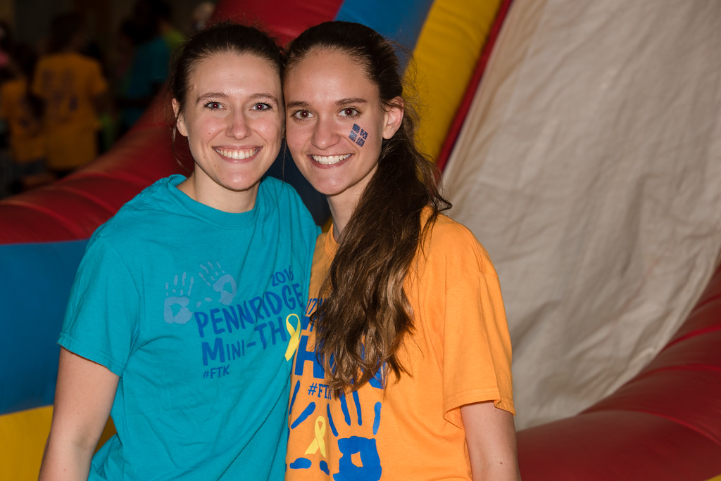 . Alexandra Ruth and Abby Nuneviller attend Pennridge High School�s Mini-THON Saturday, May 13.  Jeff Davis � For Digital First Media