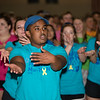 Biniam Woldegebrial dances during Pennridge High School's Mini-THON Saturday, May 13.  Jeff Davis — For Digital First Media