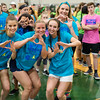 Rachel Velez, Claire Beno, Becca McBride and Olivia Fernandez take part in Pennridge High School's Mini-THON Saturday, May 13.  Jeff Davis — For Digital First Media