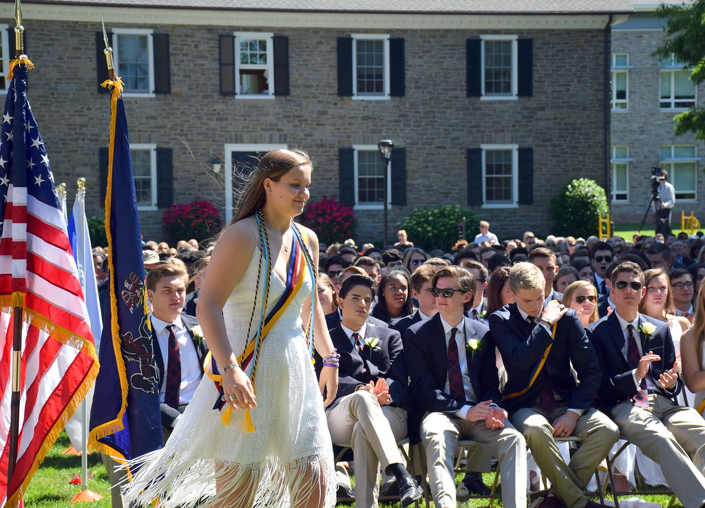 . Germantown Academy graduates its Class of 2017 in its annual commencement ceremony at the school in Fort Washington June 9. Debby High - For Digital First Media