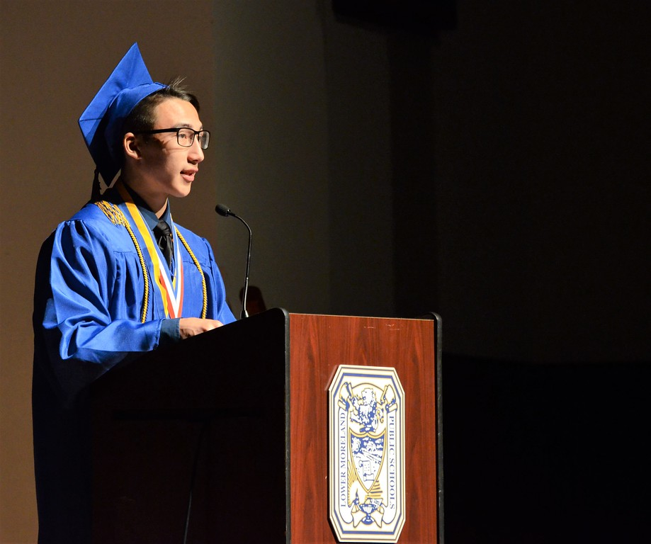 . Lower Moreland High School in Huntingdon Valley holds its commencement ceremony for the Class of 2017 June 14. Christine Wolkin - For Digital First Media