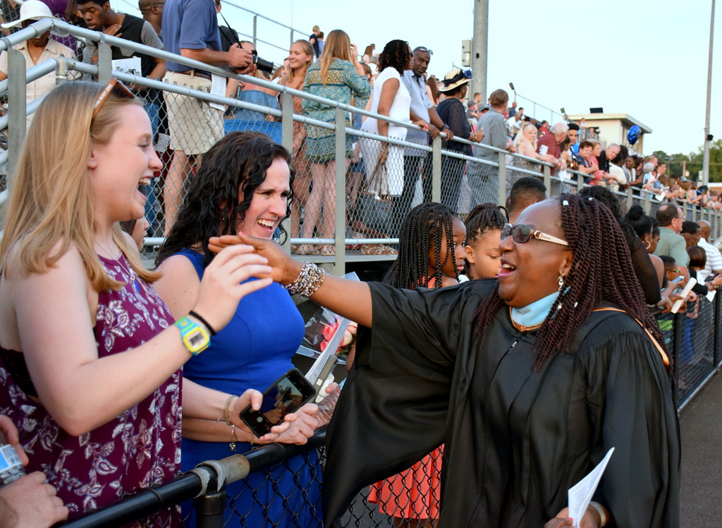 . Springfield Township High School holds its graduation ceremony for the Class of 2017 June 14. Debby High - For Digital First Media