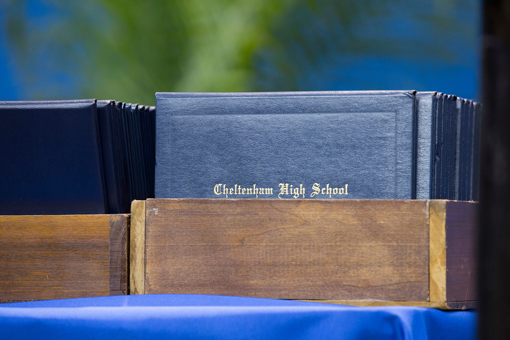 . Cheltenham High School holds its graduation ceremony for the Class of 2017 June 15. Rachel Wisniewski - For Digital First Media