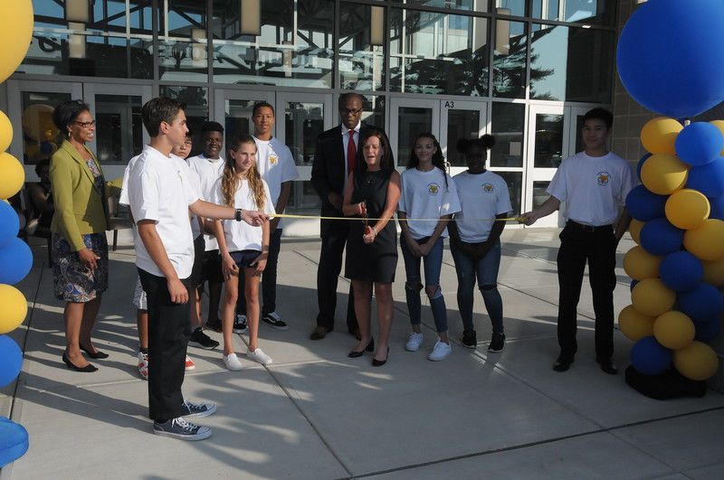 Cedar brook Middle School grand reopening in Cheltenham August 22, 2018. Gene Walsh — Digital First Media