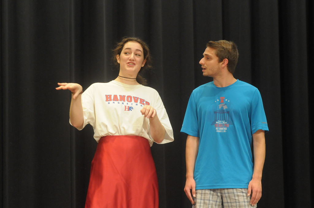 . Gene Walsh - Digital First Media Students rehearse for upcoming production of �Musical Comedy Murders of 1940� at Souderton Area High School October 23, 201