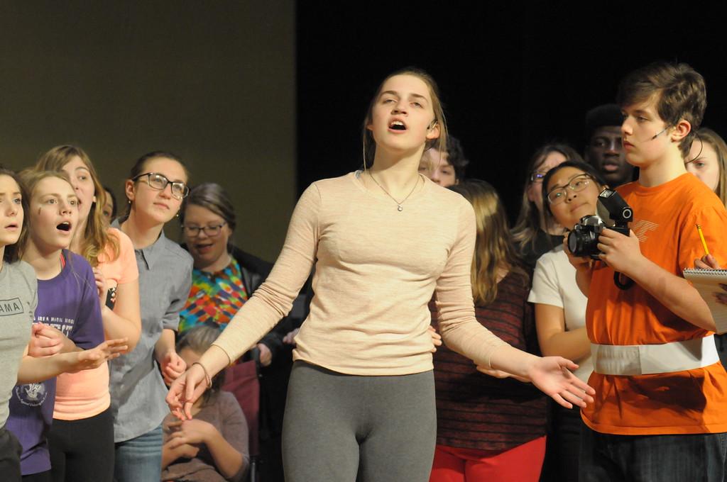 ". Souderton High School students rehearse for production of \""Bye Bye Birdie\"" March 26, 2018. Gene Walsh � Digital First Media"