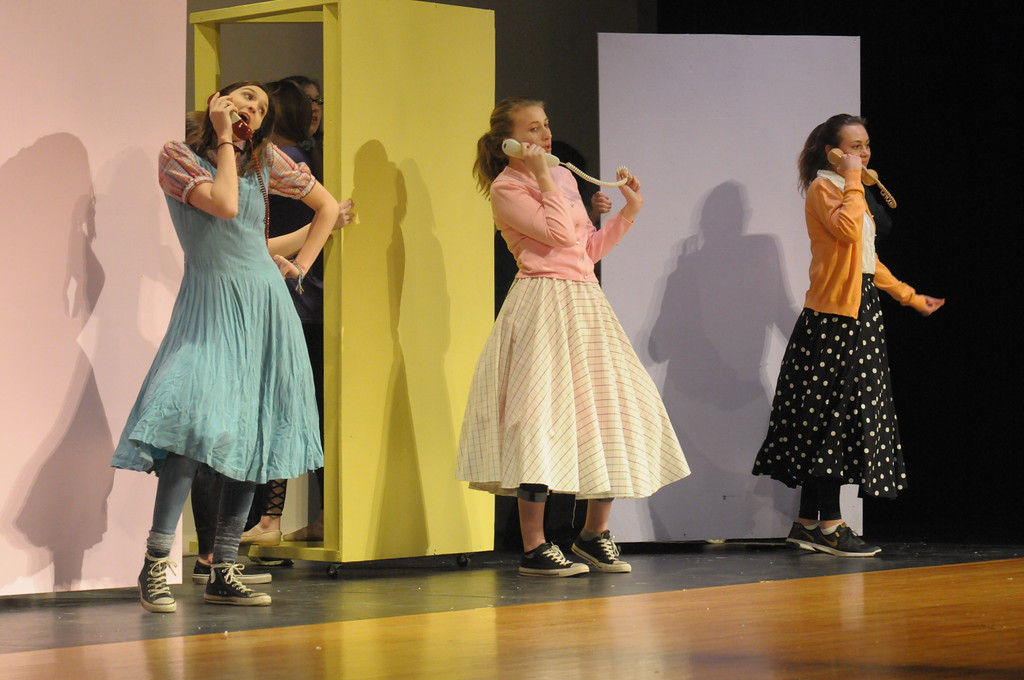 ". Souderton High School students rehearse for production of ""Bye Bye Birdie\"" March 26, 2018. Gene Walsh � Digital First Media"