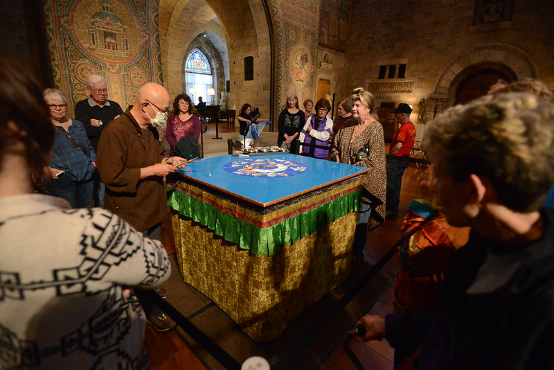 Gene Walsh — MediaNews Group<br /> Sand Mandala created at Glencairn Museum in Lower Moreland April 26, 2019