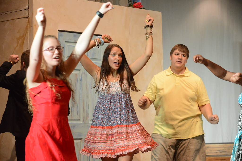 . Young Starrs Theater Company rehearsal for production of Mamma Mia