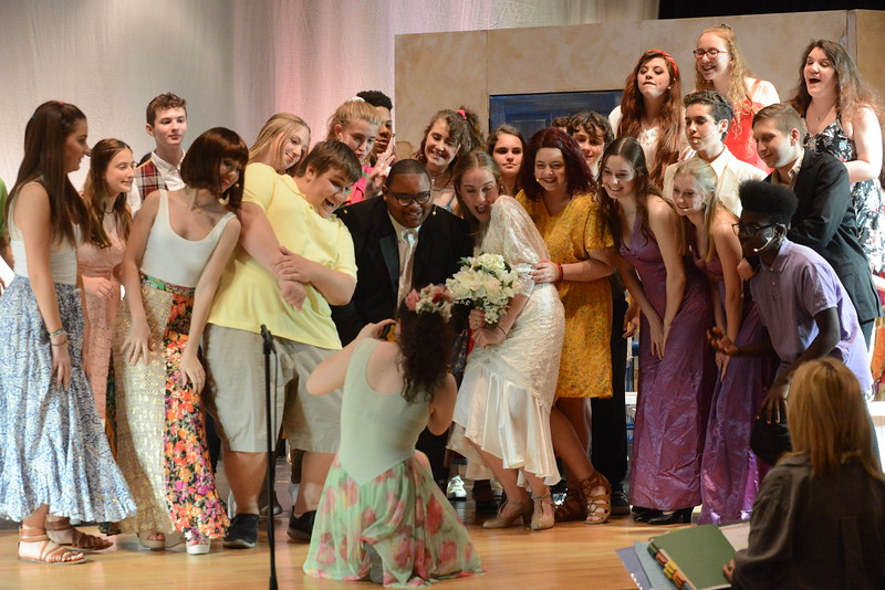 Young Starrs Theater Company rehearsal for production of Mamma Mia
