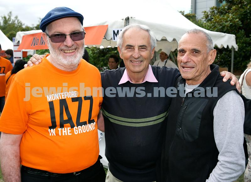 Jazz in The Grounds concert at Montefiore Home. Mervyn Stein, Lewis Levi, Lionel Taitz.