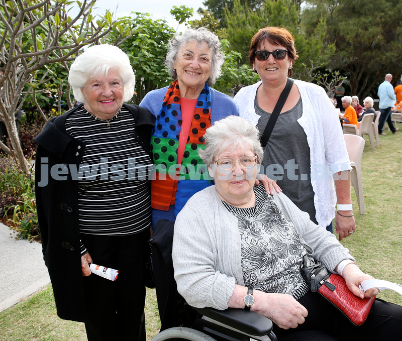 Jazz in the grounds concert at Montefiore Home. Elizabeth Radmai, Sylvia Levi, Ann Levi, Agnes Kraus.
