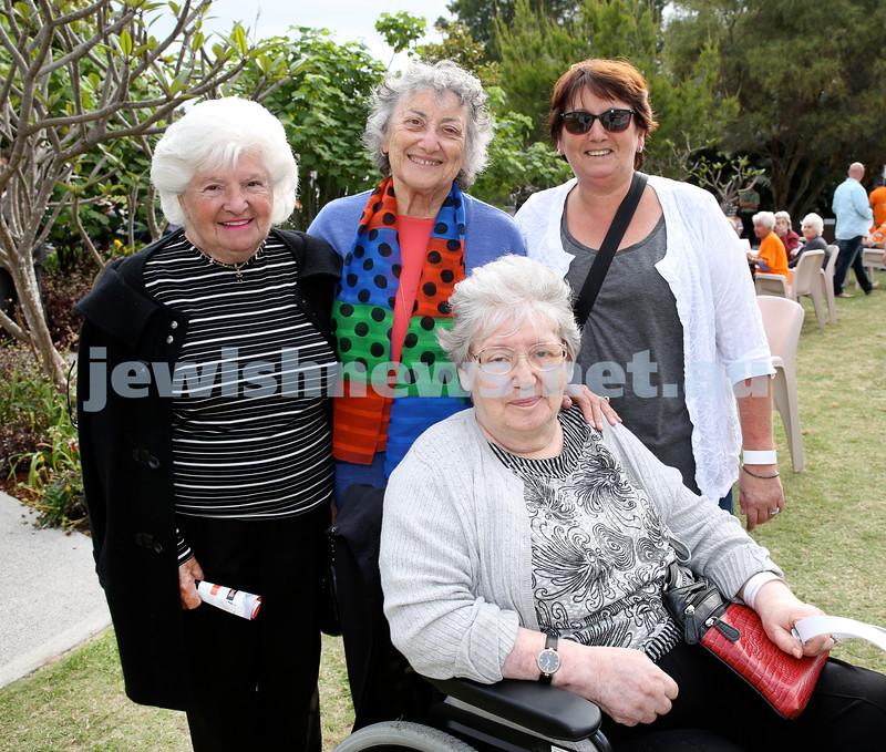 Jazz in the grounds concert at Montefiore Home. Elizabeth Radmai, Sylvia Levi, Ann Levi, Agnes Kraus.