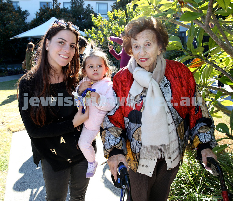 Montefiore Lag B'Omer Family Fun Day. (from left) Suzy & Sophia Reale with Sigrid Westheimer. Pic Noel Kessel.