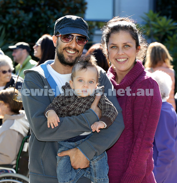 Montefiore Lag B'Omer Family Fun Day. Eran & Shevy Bishri with their son Lev Aryeh. Pic Noel Kessel.