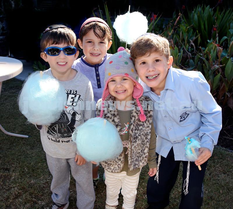 Montefiore Lag B'Omer Family Fun Day. (from left) Gavi Rothchild, Ariel Nagel, Dov Nagel, Libby Nagel. Pic Noel Kessel.
