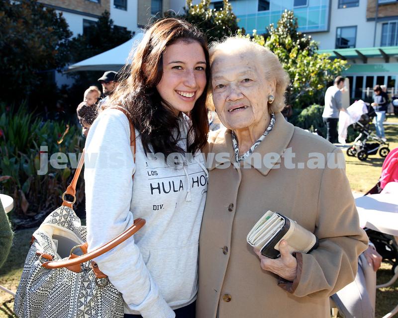 Montefiore Lag B'Omer Family Fun Day. Natalie Ulitsky (left) & Zelma Barkey. Pic Noel Kessel.