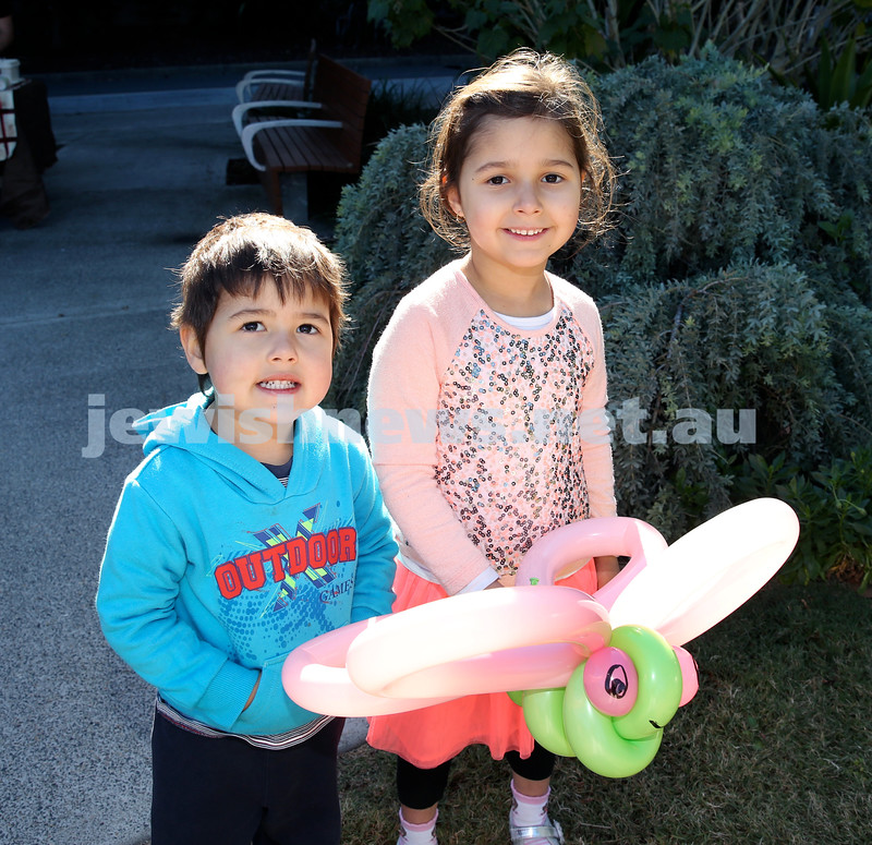 Montefiore Lag B'Omer Family Fun Day. Ben & Yaella Shapiro. Pic Noel Kessel.
