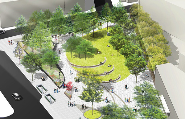 Montefiore Park Redesign and new adjacent Plaza  Honored at the 33rd Annual  Awards for Excellence in Design
