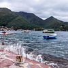 Boats around the Bay of Kotor in Montenegro