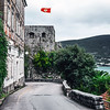 Montenegro flag in Herceg Novi
