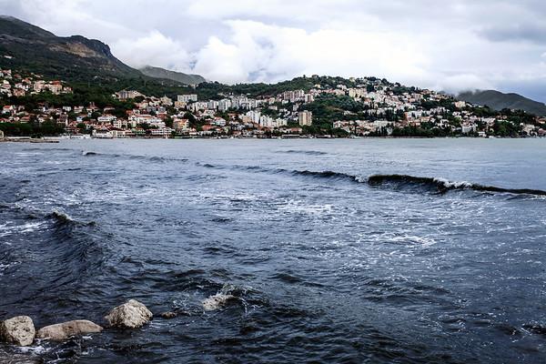 Herceg Novi on a rainy and grey day