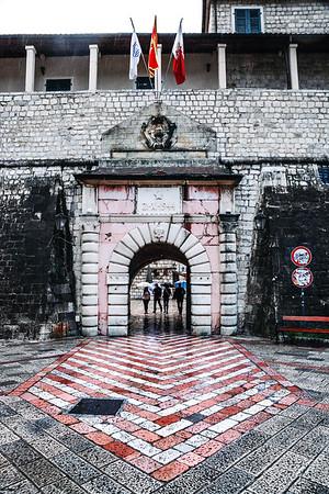 Historic main gate of Kotor