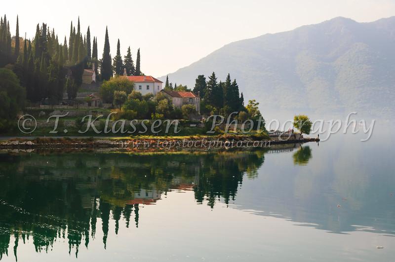A Kotor Lakes scene in Montenegro.