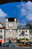 The village square in the medieval walled village of Kotor, Montenegro.