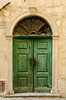 An ornate door in the medieval walled village of Kotor, Montenegro.