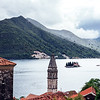 The mountains surrounding the town of Perast and the Bay of Kotor in Montenegro