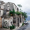 Old car in the street of Perast on the Bay of Kotor in Montenegro