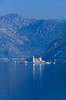 The Church of Our Lady of the Rocks in the Bay of Kotor near Perast, Montenegro.