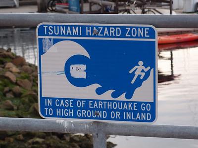 Tsumani Hazard Sign