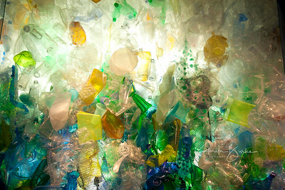 art made from the scourge of plastics in the oceans