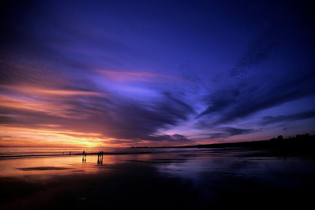 . Sunset at Seacliff State Beach in Aptos.  (Vern Fisher - Monterey Herald)