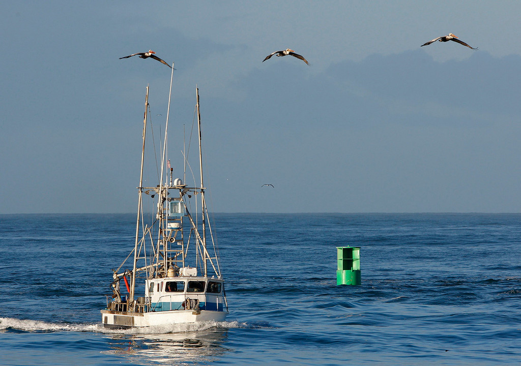 . The commercial fishing boat Dreamcatcher heads back in to the Moss Landing Harbor with a load of crab on Wednesday, Nov. 16, 2016.  (Vern Fisher - Monterey Herald)