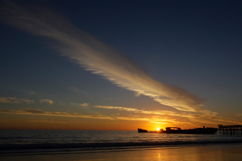 Sunset at Seacliff State Beach