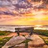 beach bench sunset 1326