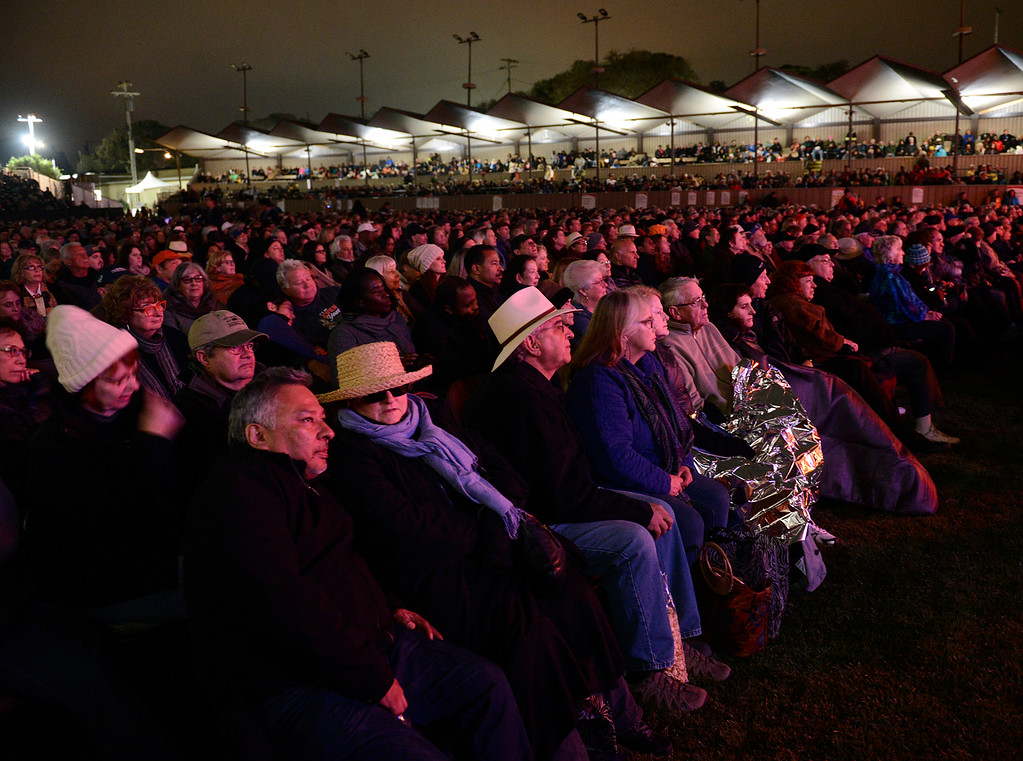 . Fans fill the arena during Tribute to Quincy Jones The A&M Years at the 59th annual Monterey Jazz Festival at the Monterey County Fair and Events Center in Monterey, Calif. on Friday September 16, 2016.  (David Royal - Monterey Herald)