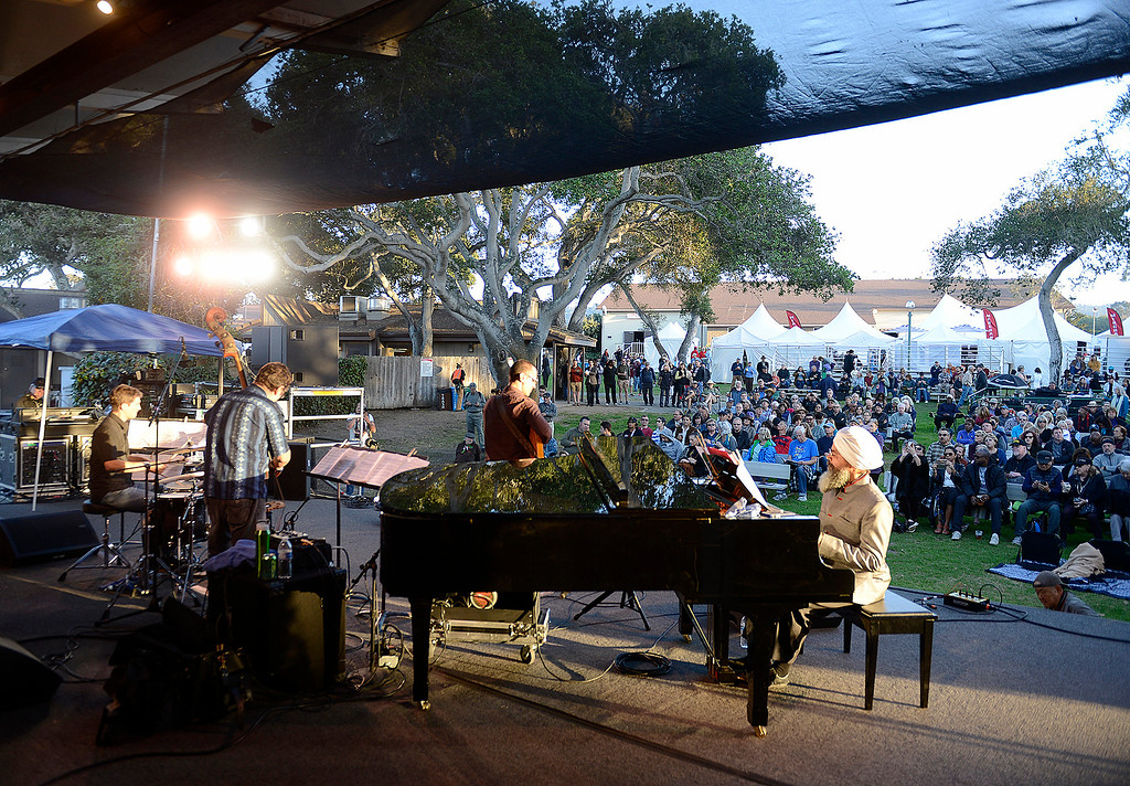 . The Hristo Vitchev Quartet plays the Garden Stage with at the Monterey Jazz Festival on Friday, September 21, 2018.  (Vern Fisher - Monterey Herald)