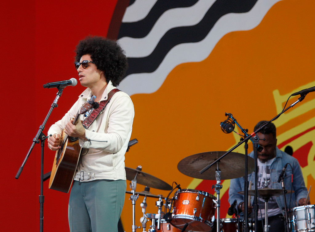 . Singer Jose James celebrates the music of Bill Withers on the Jimmy Lyons stage in the main arena at the Monterey Jazz Festival on Saturday, September 22, 2018.  (Vern Fisher - Monterey Herald)