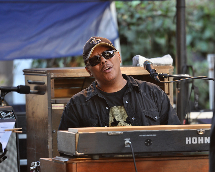 MONTEREY, CA-SEPTEMBER 17: Ivan Neville performs with Dumpstaphunk at the Monterey Jazz Festival in Monterey, CA on September 17, 2011. (Photo by Clayton Call/Redferns)
